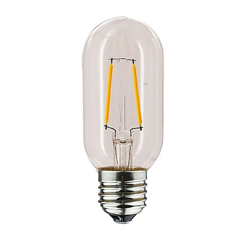 1шт 1 W 100-160 lm E26 / E27 LED лампы накаливания T45 2 Светодиодные бусины Тёплый белый 220-240 V