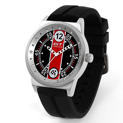 Муж. Спортивные часы Кварцевый силиконовый Черный С гравировкой Ударопрочный Аналоговый Мода Скелет - Красный Зеленый Синий Один год Срок службы батареи