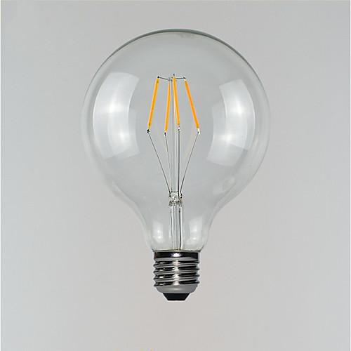 1шт 3 W 190-290 lm E26 / E27 LED лампы накаливания G125 4 Светодиодные бусины 220-240 V