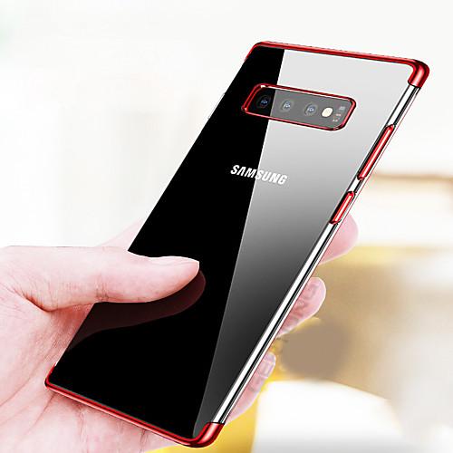 Кейс для Назначение SSamsung Galaxy Galaxy S10 / Galaxy S10 Plus Покрытие / Ультратонкий / Прозрачный Кейс на заднюю панель Однотонный Мягкий ТПУ для S9 / S9 Plus / S8 Plus фото