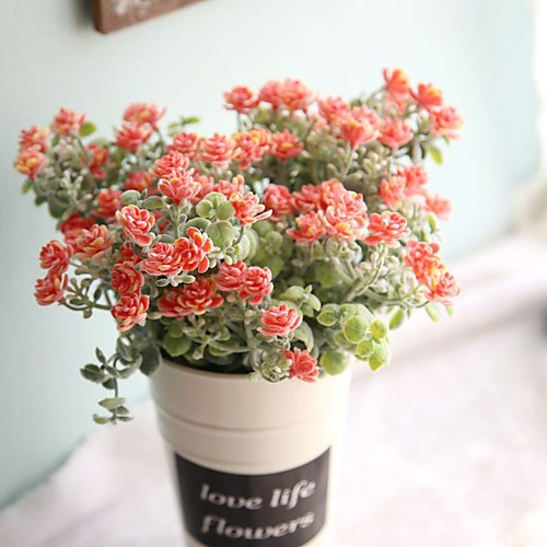 Искусственные Цветы 1 Филиал Односпальный комплект (Ш 150 x Д 200 см) Пастораль Стиль Камелия Букеты на стол