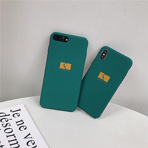 Кейс для Назначение Apple iPhone XR / iPhone XS Max Матовое / С узором Кейс на заднюю панель Слова / выражения / Геометрический рисунок Твердый ПК для iPhone XS / iPhone XR / iPhone XS Max