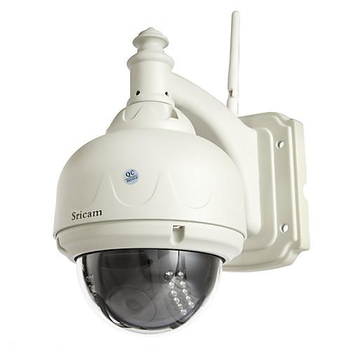 Sricam 720p ip-камера беспроводная 1,0 мегапиксельная h.264 купольная водонепроницаемая Wi-Fi WLAN с ИК-подсветкой PTZ видеонаблюдения безопасности sp015