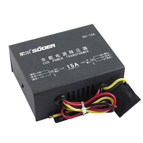 suoer Автомобиль Преобразователь постоянного тока 0 USB-порт для 12 V