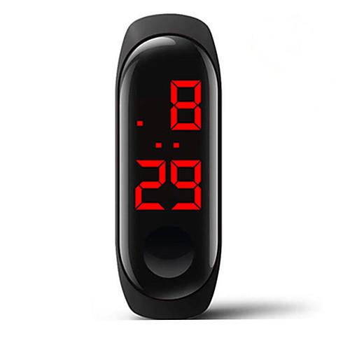 Муж. электронные часы Цифровой силиконовый Белый / Синий / Красный 30 m Защита от влаги Творчество Цифровой Мода Цветной - Красный Синий Розовый