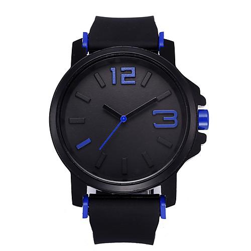 Муж. Спортивные часы Кварцевый силиконовый Черный / Синий Секундомер Новый дизайн Повседневные часы Аналоговый Мода минималист - Желтый Красный Синий Один год Срок службы батареи