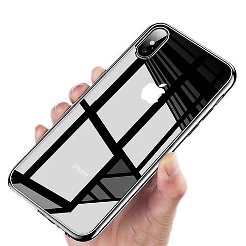 Кейс для Назначение Apple iPhone XR / iPhone XS Max Покрытие / Ультратонкий / Прозрачный Кейс на заднюю панель Однотонный Твердый ПК для iPhone XS / iPhone XR / iPhone XS Max фото