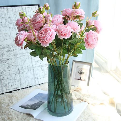 Искусственные Цветы 1 Филиал Односпальный комплект (Ш 150 x Д 200 см) Современный современный Пастораль Стиль Розы Букеты на стол