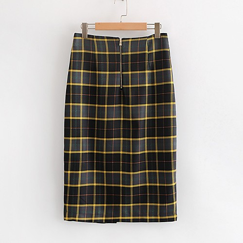 Женские юбки-карандаш midi - полосатые фото