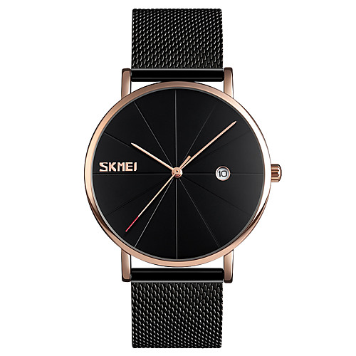 SKMEI Men's Dress Watch Wrist Watch Quartz Stainless Steel Black / Silver 30 m Water Resistant / Waterproof Calendar / date / day Creative Analog Fashion Minimalist - Silver Blue Black / Rose Gold