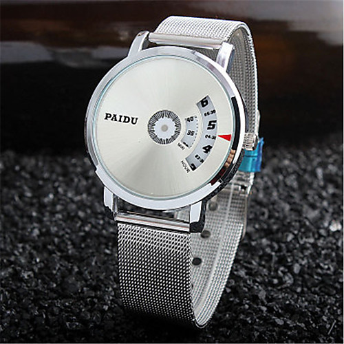 Муж. Нарядные часы Кварцевый Серебристый металл Новый дизайн Повседневные часы Цифровой На каждый день Мода - Черный Серебряный
