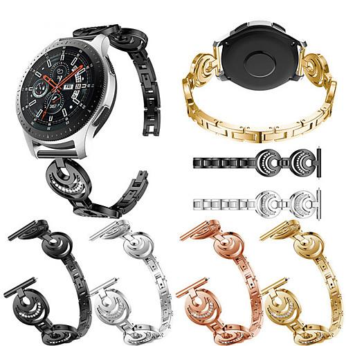 Ремешок для часов для Gear S3 Frontier / Gear S3 Classic / Samsung Galaxy Watch 46 Samsung Galaxy Спортивный ремешок / Дизайн украшения Нержавеющая сталь Повязка на запястье фото