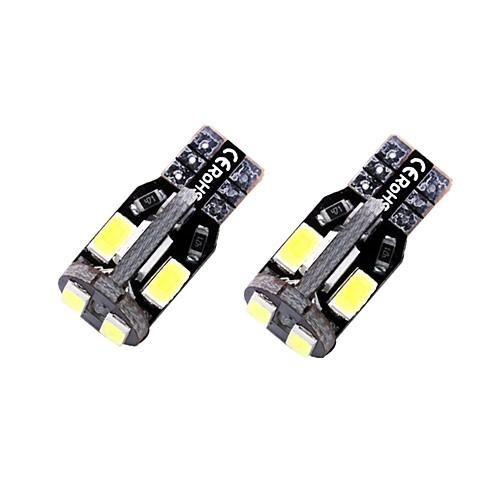 2pcs T10 / W5W Автомобиль Лампы 1.35 W SMD 5730 10 Светодиодная лампа Подсветка для номерного знака / Внутреннее освещение / Боковые габаритные огни Назначение Универсальный Все года