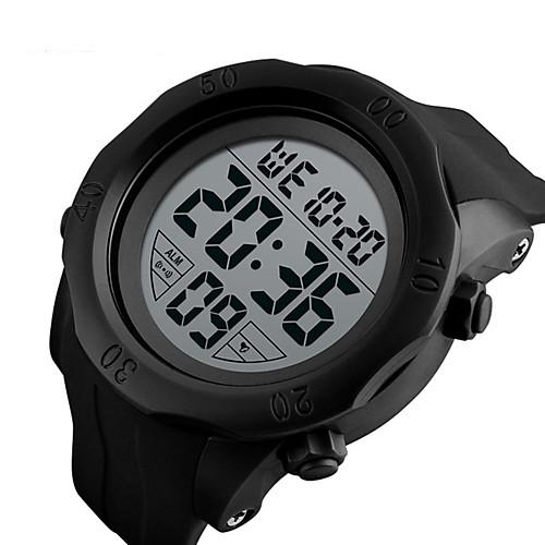 SKMEI Муж. электронные часы Цифровой силиконовый Черный / Зеленый 50 m Защита от влаги Календарь Хронометр Цифровой Классика Мода - Черный Зеленый
