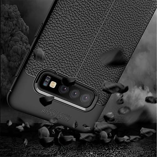Кейс для Назначение SSamsung Galaxy Galaxy S10 / Galaxy S10 Plus Защита от удара Чехол Однотонный Мягкий ТПУ для S9 / S9 Plus / S8 Plus фото