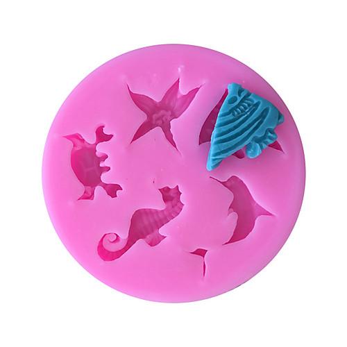 дельфины гиппокамп морская звезда силиконовые формы помадка украшения торта кухонные инструменты