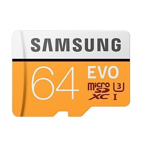 SAMSUNG 64 Гб Карточка TF Micro SD карты карта памяти Class10 U3 C10 4K EVO plus фото