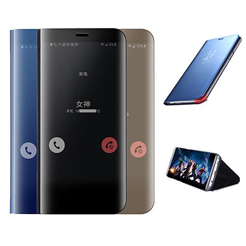 Case For Samsung Galaxy Galaxy S10 / Galaxy S10 Plus Plating / Mirror / Flip Full Body Cases Solid Colored Hard Silicone for Galaxy S10 / Galaxy S10 Plus / Galaxy S10 E