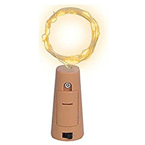 1 шт. 15-светодиодный 0.75 м медный провод свет шнура с бутылкой пробкой для стеклянной бутылки ремесла фея валентина свадебные украшения лампы ну вечеринку