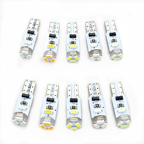 10 шт. T5 Автомобиль Лампы 0.5 W SMD 3014 80 lm 5 Светодиодная лампа Внутреннее освещение Назначение Универсальный Все года