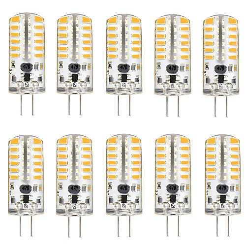 10 шт. 3 W 220 lm G4 Двухштырьковые LED лампы T 48 Светодиодные бусины SMD 3014 Милый Тёплый белый / Холодный белый 12 V