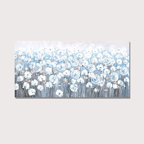 Hang-роспись маслом Ручная роспись - Пейзаж Цветочные мотивы / ботанический Современный Modern Включите внутренний каркас