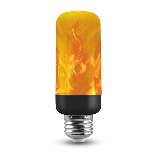 1шт 3 W Круглые LED лампы 150 lm E26 / E27 T 40 Светодиодные бусины SMD 2835 Новогоднее украшение для свадьбы Пламя мерцания 3D Фейерверк Теплый Желтый 85-265 V / RoHs / FCC фото