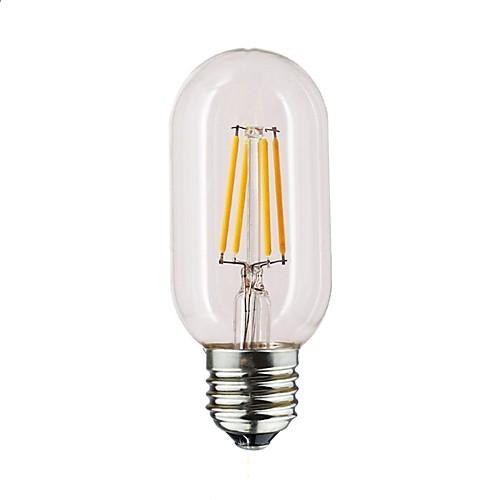 1шт 1 W 190-290 lm E26 / E27 LED лампы накаливания T45 4 Светодиодные бусины Тёплый белый