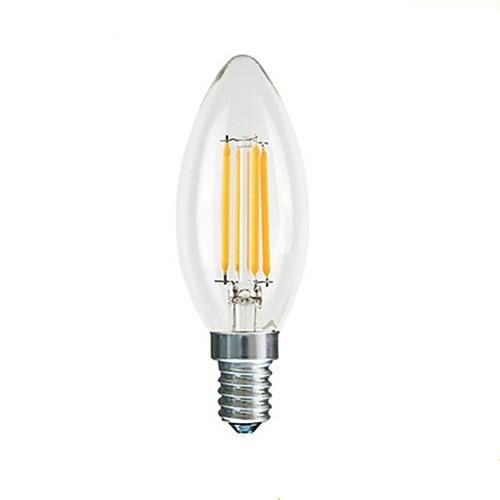 1шт 3 W 190-290 lm E14 LED лампы накаливания C35L 4 Светодиодные бусины 220-240 V
