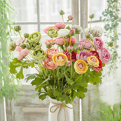 Искусственные Цветы 1 Филиал Односпальный комплект (Ш 150 x Д 200 см) Современный современный Пастораль Стиль Камелия Букеты на стол