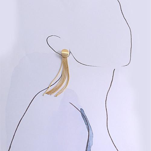Жен. С кисточками Серьги-слезки Серьги Стиль Простой Бижутерия Золотой Назначение Повседневные 1 пара