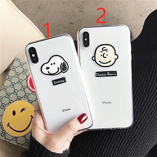 Чехол для apple iphone xr / iphone xs max pattern / прозрачная задняя крышка мультяшный мягкий тпу для iphone x / xs / 6/6 plus / 6s / 6s plus / 7/7 plus / 8/8 plus фото