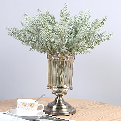 Искусственные Цветы 3 Филиал Классический европейский Простой стиль Pастений Вечные цветы Букеты на стол