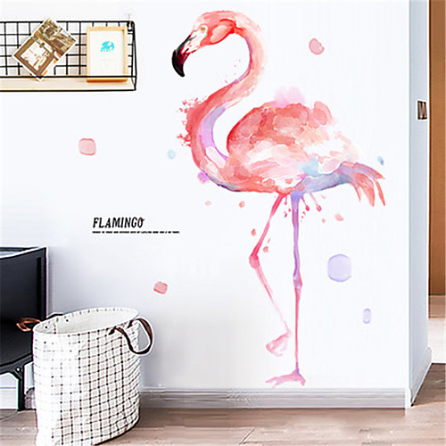 Ins Girl Heart украшения комнаты фламинго наклейки на стены чистая красная спальня наклейки аренда дома ремонт наклейки обои