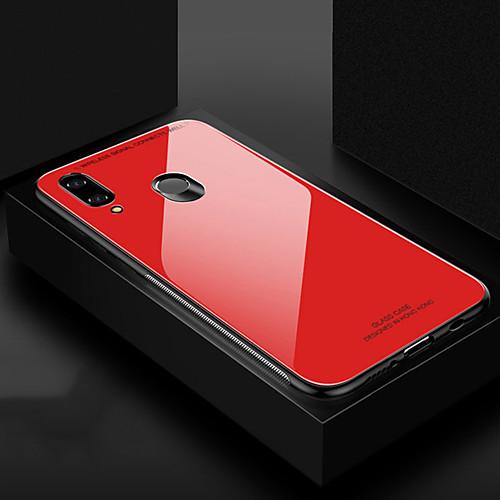 Кейс для Назначение Huawei Huawei Honor 8X / Huawei Honor 8X Max Защита от удара Кейс на заднюю панель Однотонный Твердый ТПУ / Закаленное стекло для Huawei Note 10 / Huawei Honor 10 / Honor V20 фото