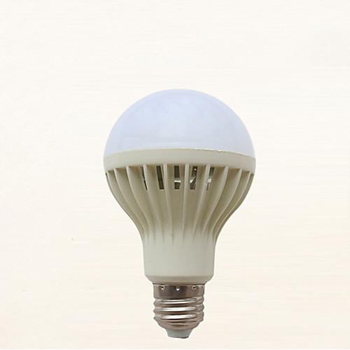 1шт 7 W Круглые LED лампы 310-410 lm E26 / E27 21 Светодиодные бусины Активация звуком Холодный белый 220-240 V фото