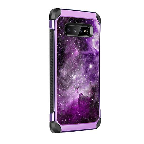 BENTOBEN Кейс для Назначение SSamsung Galaxy Galaxy S10 Plus Защита от удара / Покрытие / С узором Кейс на заднюю панель Пейзаж Твердый Кожа PU / ТПУ / ПК для Galaxy S10 Plus фото