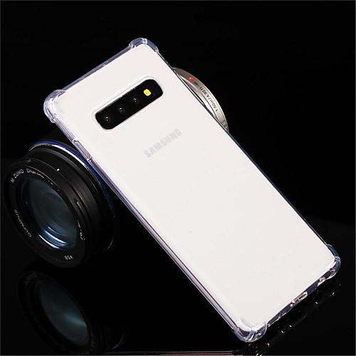 Кейс для Назначение SSamsung Galaxy Galaxy S10 / Galaxy S10 Plus Защита от удара / Прозрачный Кейс на заднюю панель Прозрачный Мягкий ТПУ для S9 / S9 Plus / S8 Plus фото