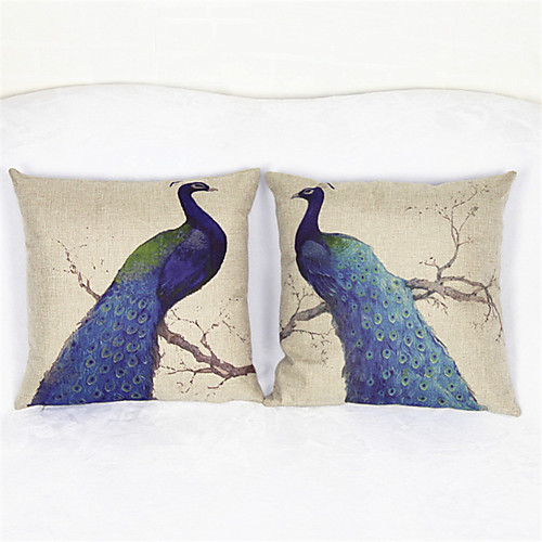 Наволочка набор яркий павлин наволочка диван домашний декор наволочки