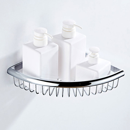Полка для ванной Креатив Modern Латунь 1шт - Ванная комната Односпальный комплект (Ш 150 x Д 200 см) На стену