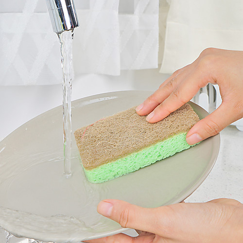 Кухня Чистящие средства Нейлон микрофибры Губка полиэфирное волокно Хозяйственная губка Новый дизайн Защита Инструменты 1 комплект