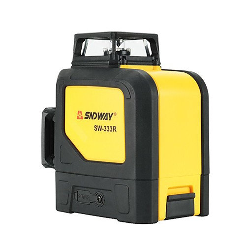 Sndway 3D 12 Lines Green Red Laser Level 360 degree Horizontal Vertical Super Powerful Cross Lines level laser leveler SW-333R