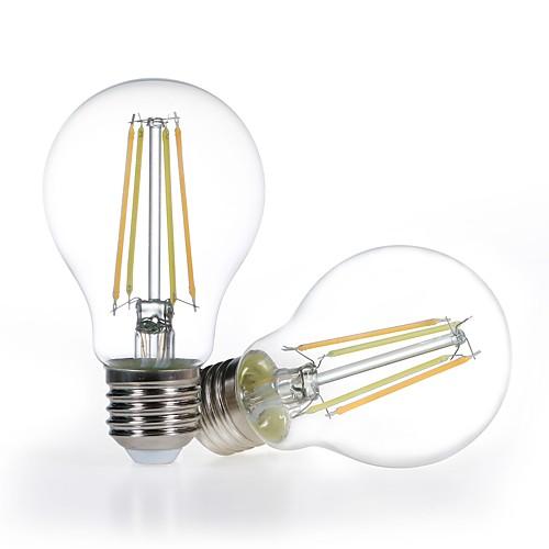 2шт затемняемые светодиодные смарт-лампы a19 4.5w прозрачное стекло 120v теплый белый до дневного света 2700-5000k работа с alexa (эхо-штекеры) не требуется фото