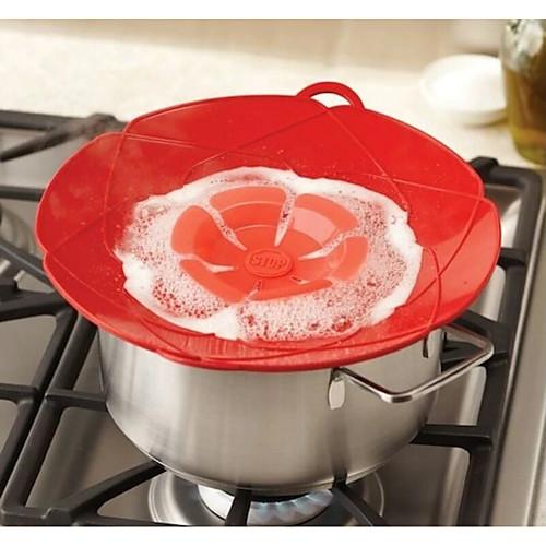Новые силиконовые крышки крышки разлива для кастрюли кухонные принадлежности инструменты для приготовления пищи цветочная посуда кухонные гаджеты