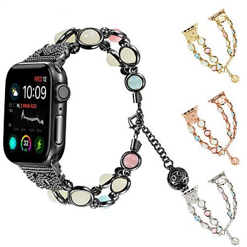 Ремешок для часов для Apple Watch Series 4/3/2/1 Apple Дизайн украшения Металл / Керамика Повязка на запястье