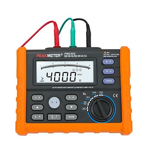 Пикметр PM2302 Цифровой измеритель напряжения заземления Тестер напряжения от 0 до 4 кОм 100 групп Регистрация данных с подсветкой
