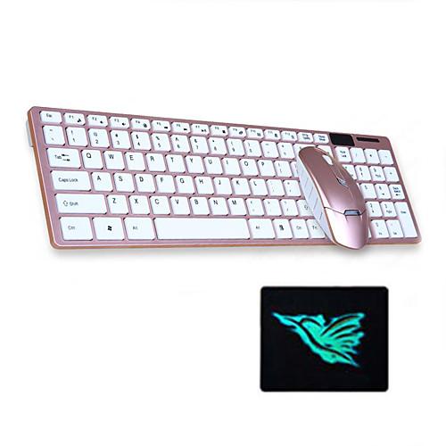 3 шт. Набор беспроводной клавиатуры и мыши комплект 2,4 ГГц тонкие мини-комбо фото