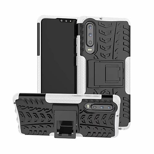 Кейс для Назначение Huawei Huawei P30 / Huawei P30 Pro Защита от удара / со стендом Кейс на заднюю панель Однотонный Твердый пластик для Huawei P30 / Huawei P30 Pro / Huawei P30 Lite фото