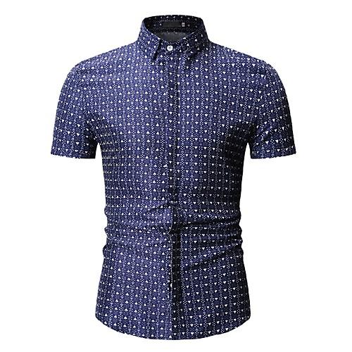 Муж. С принтом Рубашка Горошек Синий XL фото