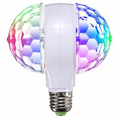 1шт 6 W Круглые LED лампы 400 lm E26 / E27 6 Светодиодные бусины SMD Вращающийся Для вечеринок Декоративная 85-265 V / RoHs фото